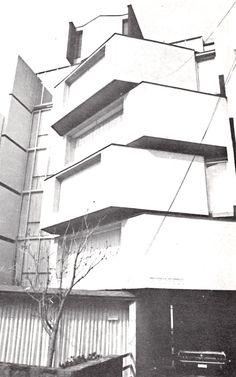 Edificio de departamentos, Río Támesis 6, Cuauhtémoc, México, DF 1968 Arqs. Carlos Gosselin y Martin L. Gutiérrez - Apartment building, Rio Tamesis 6, Cuauhtemoc, Mexico City 1968