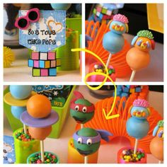 Popple, Pogo Balls, Teenage Mutant Ninja Turtles Cake Pops