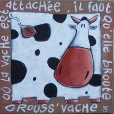 vache sur jute GROUSS'VACHE