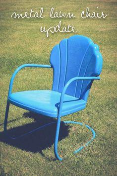 metal lawn chair update // the logbook