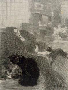 """kecobe: """" Théophile Alexandre Steinlen (Swiss; 1859–1923) Quand nous serons vieux! = When We're Old! Published: Chansons de Montmartre: Lithographies de Steinlen (Paris: L. Carteret, 1899), a series..."""