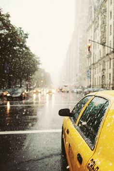 rainy day in New York City