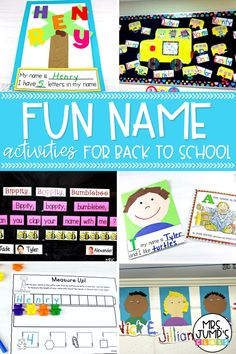 These fun name activities for back to school are a great way to get early learners familiar with their names. Most activities involve a kindergarten craftivity that can also be used to create a back to school bulletin board.