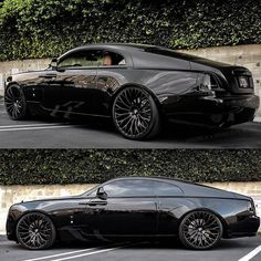Murdered out Rolls-Royce Wraith. Rate it 💣 Original build:   Rolls Royce Wraith, Rolls Royce Cars, Rolls Royce Phantom, Porsche, Audi, Bmw, Luxury Sports Cars, Best Luxury Cars, Sport Cars