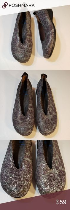 fe8c60e56a0c Wolky Leather Animal Print Comfort Flats Size 41 Wolky comfort shoes  reptile leopard print size 41 Wolky website says these can run small Gray  and purple ...