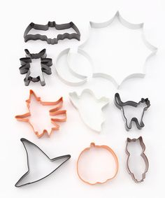 Take a look at this Halloween 10-Piece Cookie Cutter Set by R on #zulily today!