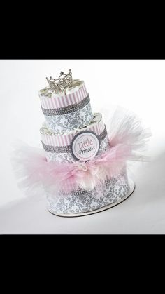 Loveeee this diaper cake #fancy #girlie #stylish #tullie #iwouldmake