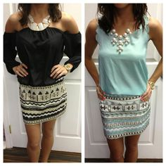 Sequin skirts $52