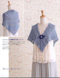 ISSUU - Crochet Shawl and Stole by vlinderieke