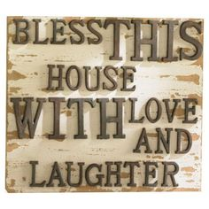 Bless This House Wall Sign #home #decor