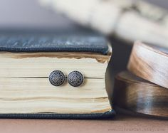 Tiny vintage stud earrings Tiny ear post  Metal studs by CitrusCat, $18.00