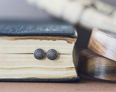 Tiny vintage stud earrings Tiny ear post  Metal studs by CitrusCat, $18.00