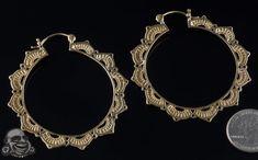 18k gold plated Lotus hoops