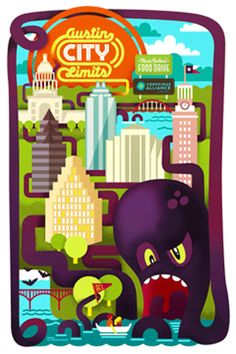 This awesome Austin City Limits Poster, courtesy of Conscious Alliance can be yours for free with a donation of 10 non-perishable food items.  Ramen noodles will not be accepted for a free poster.