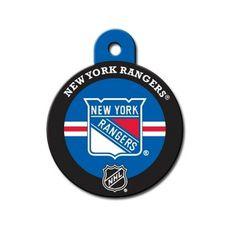 c4720324541 New York Rangers Dog ID Tags and Pet ID Tags - NHL hockey circle shaped #