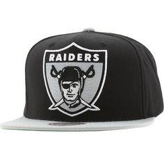 Mitchell And Ness Oakland Raiders NFL XL Logo Snapback Cap (black   silver)  NJ40Z 8c8e66cfc