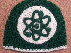 Big Bang Theory Show Atom Logo Inspired Beanie Hat Crochet Pattern (11)