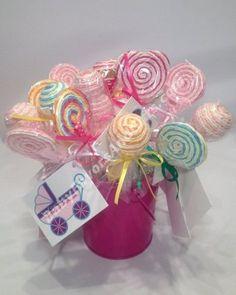 Pink Lollipop baby shower Favors #babyshower #favors