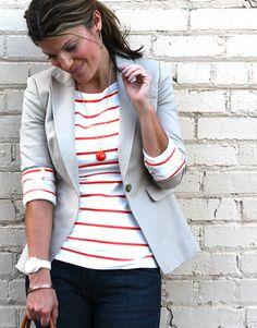 Marionberry Style: Love the blazer!