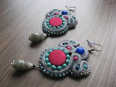 Soutache ribbons beads buttons