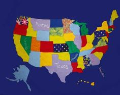 DIY: Felt Wall Map - a fun craft for you and the kids to do together!  www.fabricstreet.com