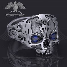 A Different Decision: Skull Wedding Rings - Engagement Rings Skull Jewelry, Gothic Jewelry, Silver Jewelry, Jewelry Rings, Western Jewelry, Hippie Jewelry, Skull Rings, Gold Jewellery, Silver Earrings