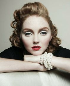 Lily Cole. Make-up is beautiful!