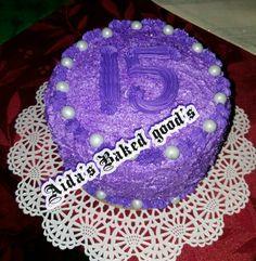 Almond birthday cake w/ bakery style frosting.