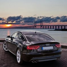 The always so beautiful and nicknamed Sexyback the S5 Sportback in a lovely Scandinavian sunset.  Car: 2014 @Audi S5 Sportback (333hp 3.0TFSI supercharged V6) Color: Mythos black metallic  Performance 0-100kmh/62mph: 477sec (tested) 51sec (official) Location: Malmö Sweden Facebook: http://ift.tt/1sUXuHP  Camera: Canon Eos 5D Mark II / 24-70mm Thanks to: Audi Malmo (@audimalmohbg)  Remember ALL my photos are available on my popular Facebook page where you can download them in their high…