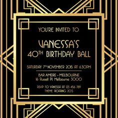 1920s invitation, 1920s party, 20 theme, 20's birthday party invitations, 20's Parties, 20's party, 20s birthday, 21st birthday invitations, 30th birthday invitations, 40th birthday invitations, 50th birthday invitations, adult birthday invitations, Adult Birthday Party Invitations, birthday invitation, birthday invitation card, birthday invitation cards, birthday invitation template, birthday invitations, birthday invite, birthday party invitation, birthday party invitations, black and gold…