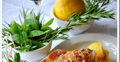 Πασχαλινό τραπέζι!!! Υλικά 11/2 με 2 κιλά κατσικάκι σε μερίδες 3/4 κούπας ελαιόλαδο 2 λεμόνια λίγο ξύδι 3-4 σκελίδες σκόρδο κομμένες στη μέσ...