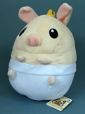 "MONSTER HUNTER Naked Emperor Poogie Pig 10"" Plush character CAPCOM Japan Rare"