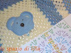 lo spazio di lilla: Facciamo insieme...la granny all'uncinetto per la copertina da neonato / Let's make together...the easy crochet granny for baby blanket