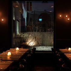 Elegantes, dunkles Interieur im Restaurant Schwein in Mitte | creme berlin