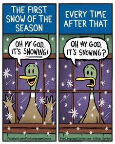 First snow of the season vs. the other times | Fowl Language Comics