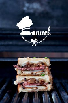 Steak & Potato Barbecued Grilled Cheese, Obsessed with sandwiches.
