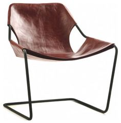 The Paulistano chair is made from one 17-foot-long piece of solid phosphatized carbon steel and a leather sling. Both materials age in their own unique and beautiful ways.