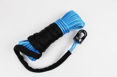 Blue ATV Winch Rope | Black Safety Thimble - https://www.4lowparts.com/shop/tre-tactical-recovery-equipment/14-blue-atv-winch-rope-package-colored-rope-black-safety-thimble-copy/