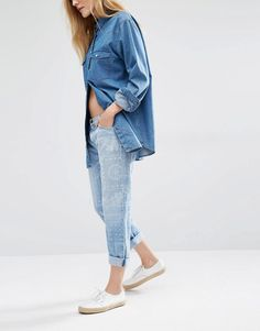Image 1 of Current/Elliott Badass Bandana Boyfriend Jeans
