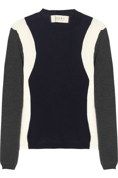 marni tri-tone wool sweater