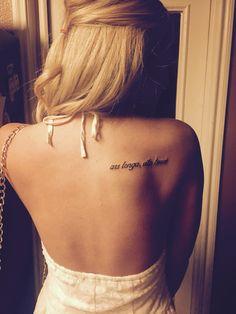 Ars longa, vita brevis shoulder tattoo
