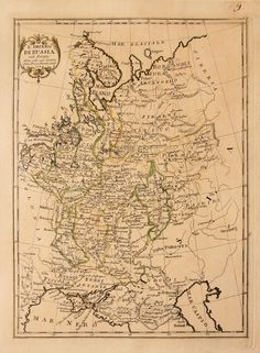 RUSSIA FINLAND Old engraved map by PAZZINI CARLI 1789