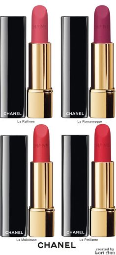 These are just amazing![Chanel Rouge Allure Velvet Intense Long-Wear Lip Colour]