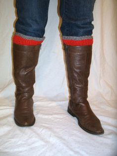 two color boot cuffs, plussize boot cuffs made to fit (16-18