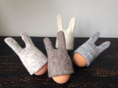 Gevilte ei warmer-Easter egg gezellige-ei hoed-Pasen door Wolwit
