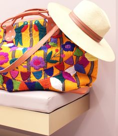 gorgeous embroidered bag and hat #ad