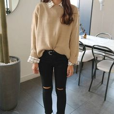 Korean Fashion Casual, Korean Fashion Trends, Korean Outfits, Asian Fashion, New Fashion, Fashion Tips, Fashion Design, Fashion Photo, Fashion Ideas