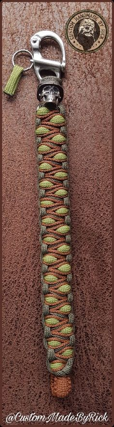 Paracord bracelet with  puwter born to kill bead @CustomMadeByRick