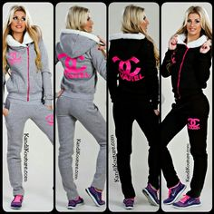 Hooded Chanel Sweatsuit Set (KANDI KOLLECTION) | Kandi Kouture ...