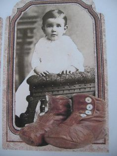 VINTAGE BABY PICTURES WITH BABY SHOES